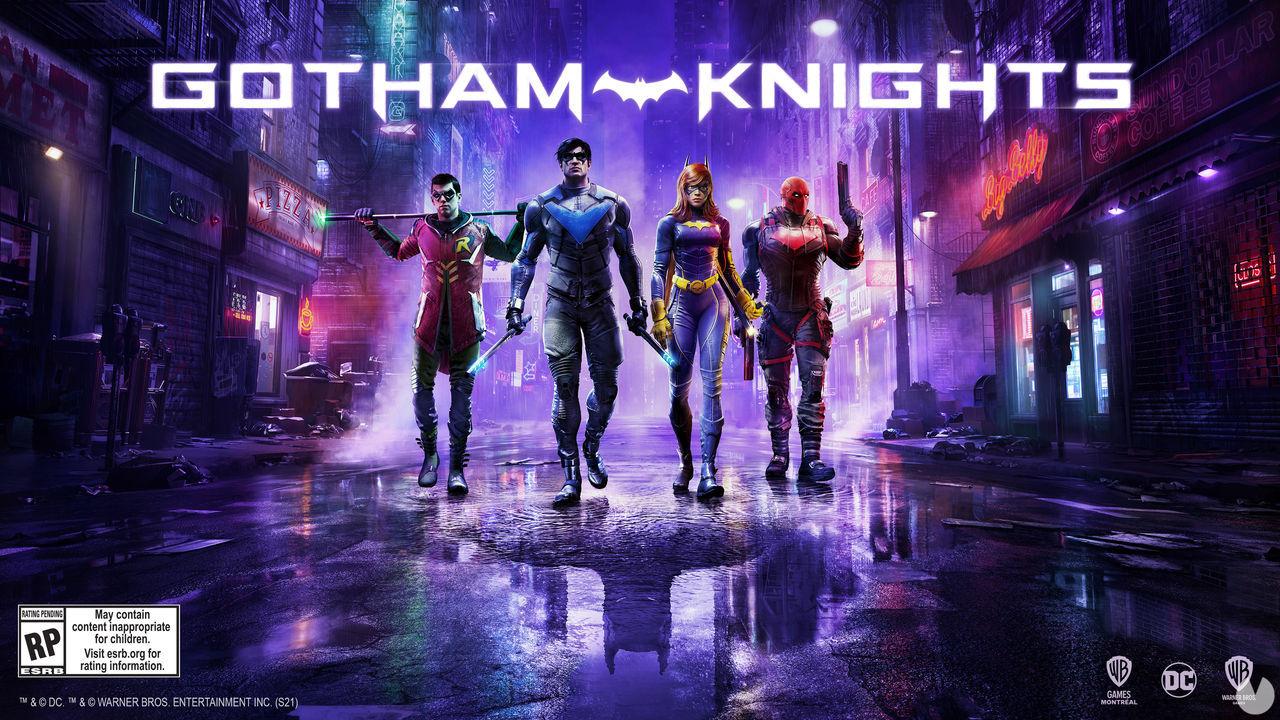 Key art oficial de Gotham Knights.