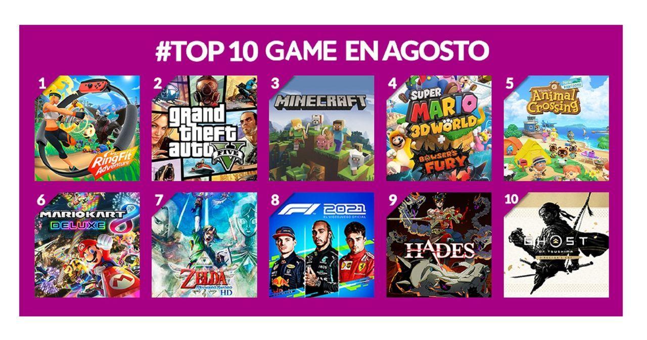 GAME y los más vendidos de agosto 2021