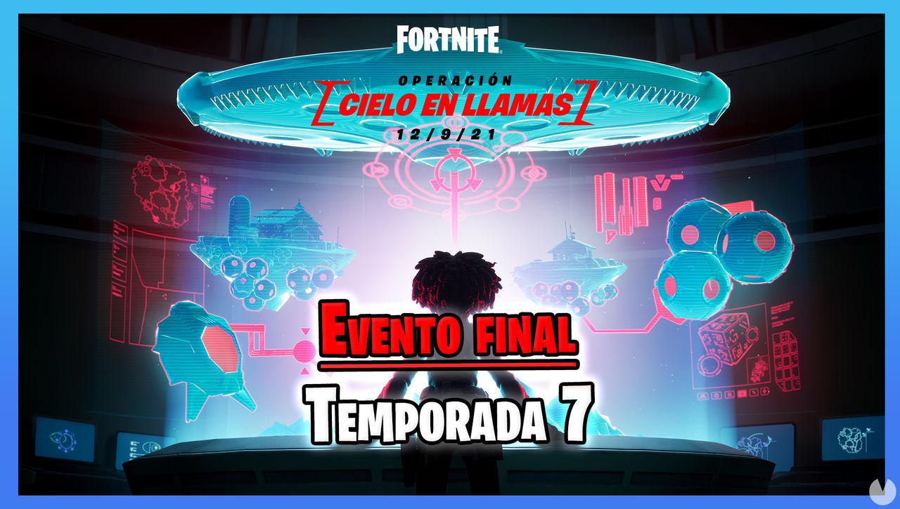 Fortnite presenta su evento final de la Temporada 7: Operación Cielo en llamas