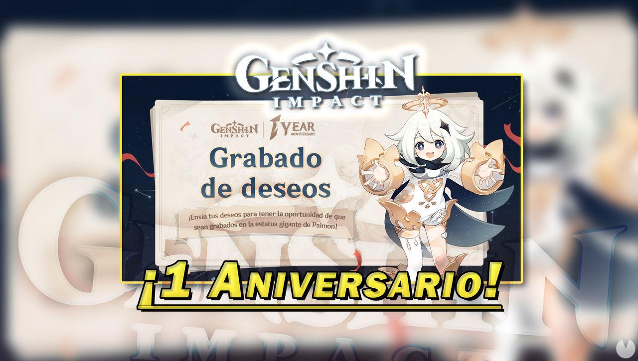 Genshin Impact celebra su primer aniversario sorteando una PlayStation 5