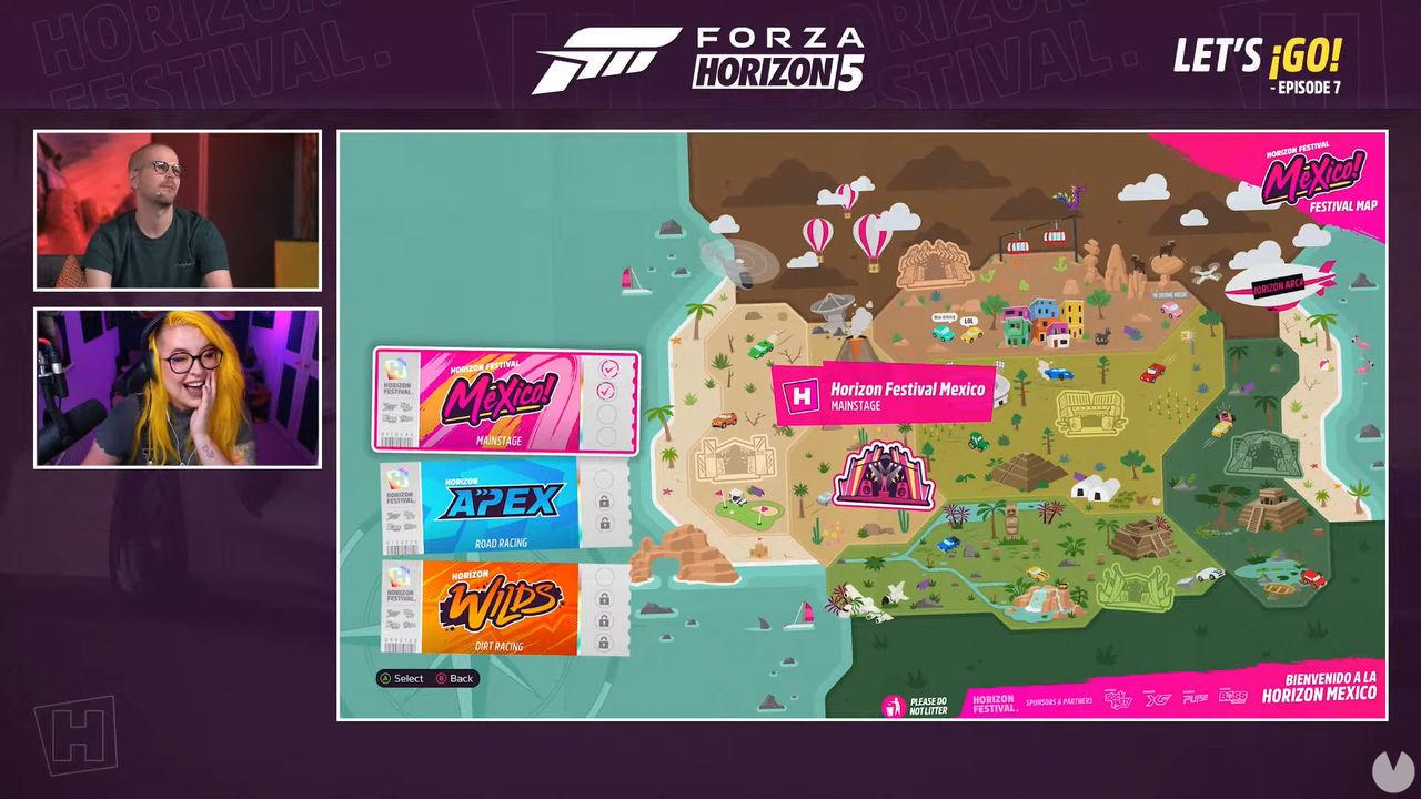 Campaña Forza Horizon 5 mapa