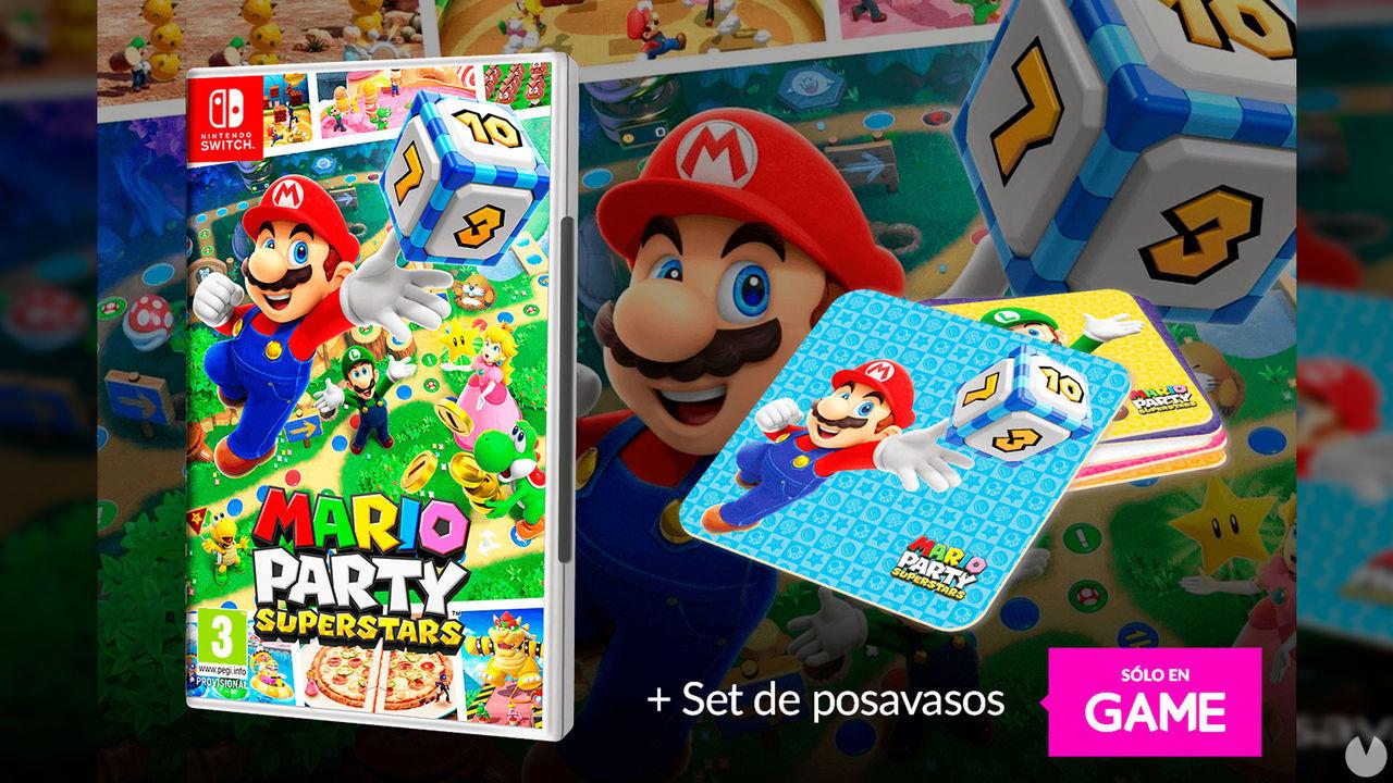 Reserva Mario Party Superstars en GAME y llévate un set de posavasos exclusivo