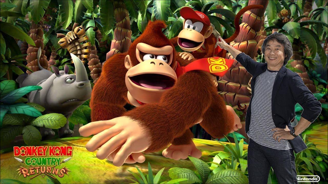 Miyamoto ayudó en un Donkey Kong agachándose en el juego durante 20 minutos
