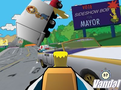 The Simpsons Road Rage - Videojuego (PS2, Game Boy Advance