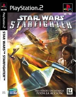 Portada oficial de Star Wars: Starfighter para PS2