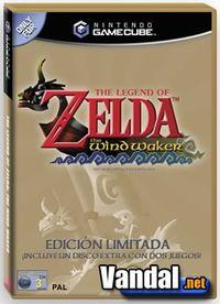 Portada oficial de The Legend of Zelda: The Wind Waker para GameCube