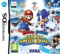Portada oficial de Mario y Sonic en los Juegos Olímpicos de Invierno para NDS