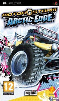 Portada oficial de MotorStorm: Arctic Edge para PSP