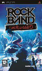 Portada oficial de de Rock Band Unplugged para PSP
