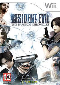 Portada oficial de Resident Evil: The Darkside Chronicles para Wii