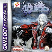 Portada oficial de Castlevania: Harmony of Dissonance para Game Boy Advance