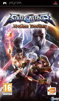 Portada oficial de SoulCalibur: Broken Destiny para PSP