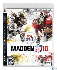 Portada oficial de Madden NFL 10 para PS3