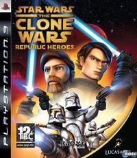 Portada oficial de Star Wars: The Clone Wars Héroes de la República para PS3