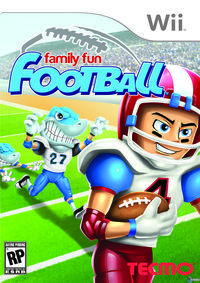 Portada oficial de Family Fun Football para Wii
