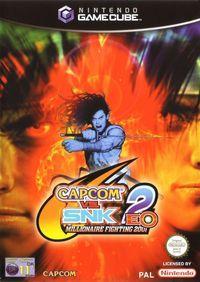 Portada oficial de Capcom vs SNK 2 EO para GameCube