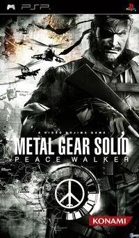Portada oficial de Metal Gear Solid Peace Walker para PSP