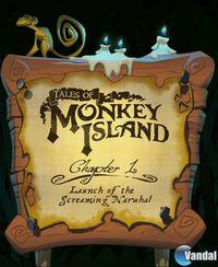 Portada oficial de Tales of Monkey Island Chapter 1: Launch of the Screaming Narwhal para PC