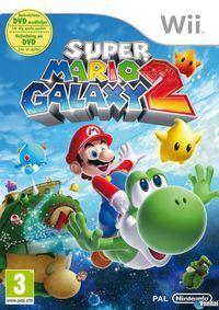 Portada oficial de Super Mario Galaxy 2 para Wii
