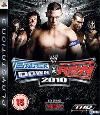 Portada oficial de WWE SmackDown vs RAW 2010 para PS3