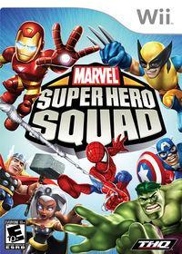 Portada oficial de Marvel Super Hero Squad para Wii