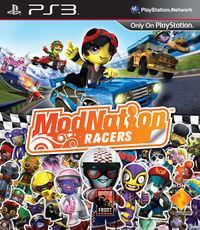 Portada oficial de ModNation Racers para PS3