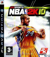 Portada oficial de NBA 2K10 para PS3
