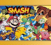 Portada oficial de Super Smash Bros. CV para Wii