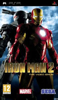 Portada oficial de Iron Man 2 para PSP