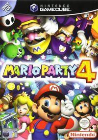 Portada oficial de Mario Party 4 para GameCube
