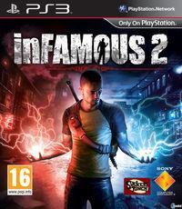 Portada oficial de inFamous 2 para PS3