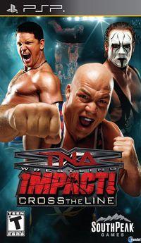 Portada oficial de TNA Impact: Cross the Line para PSP
