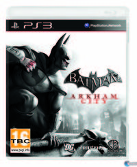 Portada oficial de Batman: Arkham City para PS3