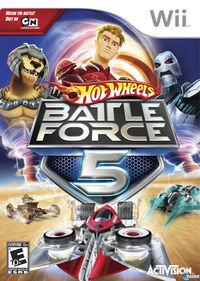 Portada oficial de Hot Wheels: Battle Force 5 para Wii