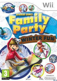 Portada oficial de Family Party: 30 Great Games Winter Fun para Wii