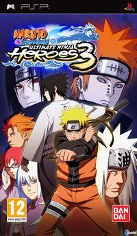 Portada oficial de Naruto Shippuden: Ultimate Ninja Heroes 3 para PSP