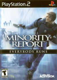 Portada oficial de Minority Report para PS2