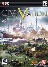 Portada oficial de Civilization V para PC