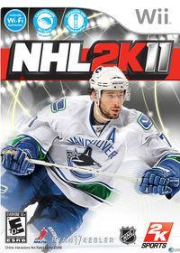 Portada oficial de NHL 2K11 para Wii
