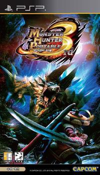 Portada oficial de Monster Hunter Freedom 3 para PSP