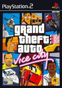 Portada oficial de Grand Theft Auto: Vice City para PS2
