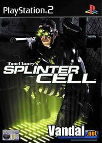 Portada oficial de Splinter Cell para PS2
