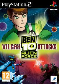 Portada oficial de Ben 10 Alien Force: Vilgax Attacks para PS2
