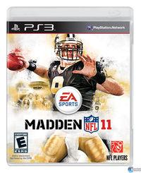 Portada oficial de Madden NFL 11 para PS3