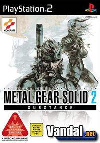 Portada oficial de Metal Gear Solid 2: Substance para PS2