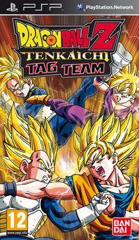 Portada oficial de Dragon Ball Tenkaichi Tag Team para PSP