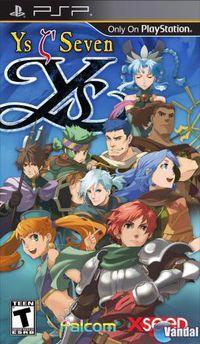 Portada oficial de Ys Seven para PSP