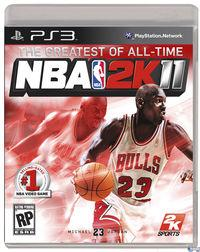 Portada oficial de NBA 2K11 para PS3