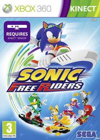 Portada oficial de Sonic Free Riders para Xbox 360