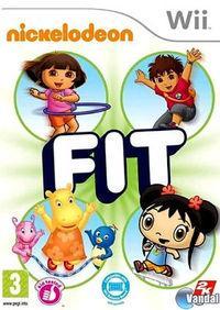 Portada oficial de Nickelodeon Fit para Wii